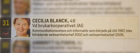 Brukarkooperativet JAGs ordförande – en av Sveriges viktigaste kvinnor 2015