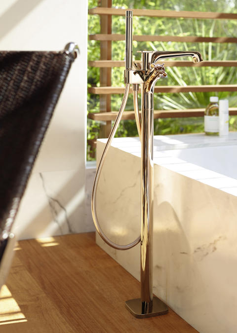 Axor_Citterio_E_Bathtub Mixer_Red Gold