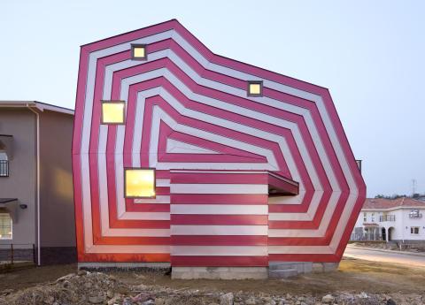 Lollipop house ritat av arkitekten Moon Hoon.