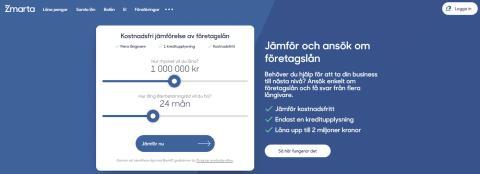 Zmarta lanserar jämförelsetjänst för företagslån