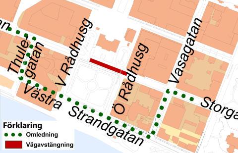 Storgatan stängs av tillfälligt