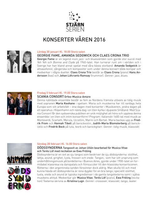 Stjärnserien våren 2016 • Kulturkvarteret Kristianstad