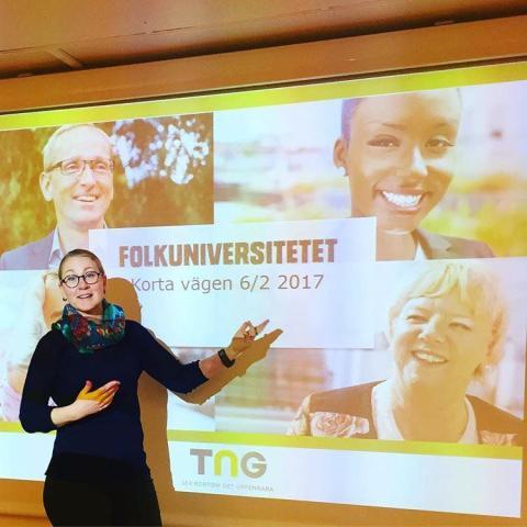 TNG föreläser för redovisningsekonomer på Korta vägen hos Folkuniversitetet i Göteborg
