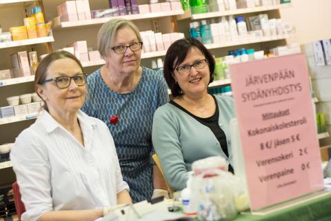 Aktiivista yhdistystoimintaa Sydänviikolla - täyden palvelun päivä Järvenpäässä