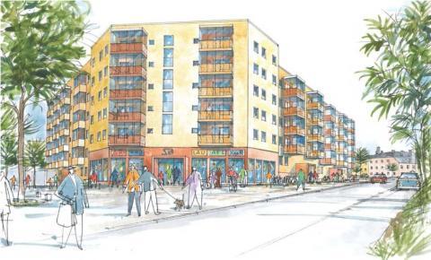 Kevius (M): 50 studentbostäder och 100 hyresrätter nära Dalens centrum