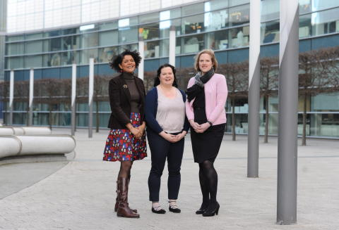 Chi Onwurah, Kathryn Cassidy and Clare Hurst