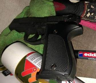 Firearms recovered in east London