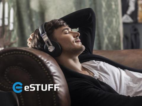 Stylish bluetooth over-ear headphones from eSTUFF