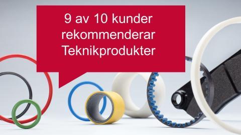 9 av 10 kunder rekommenderar Teknikprodukter