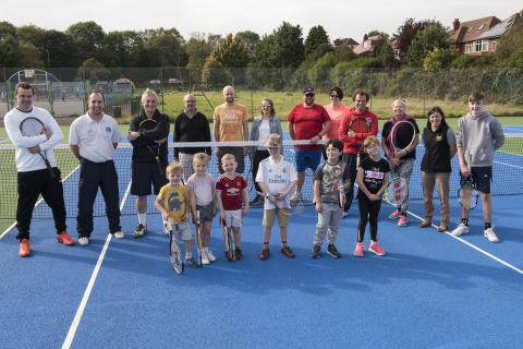 Prestwich park tennis scheme has record start