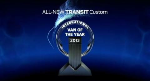 NY FORD TRANSIT CUSTOM KÅRET TIL 'INTERNATIONAL VAN OF THE YEAR'
