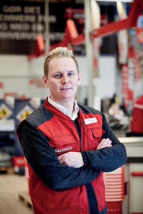 Jesper Slott Andersen, varehuschef i BAUHAUS Valby