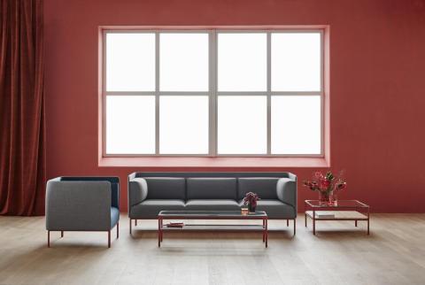 MATERIA Crest easy chair, sofa, table interior 1