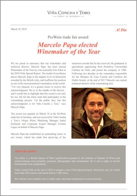Årets vinmakare - Marcelo Papa