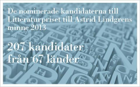 Fler kandidater än någonsin nominerade till Litteraturpriset till Astrid Lindgrens minne