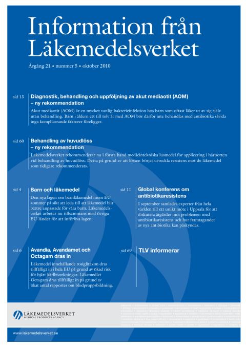 Information från Läkemedelsverket #5 2010