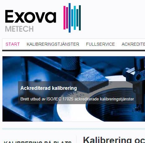 Ny webbplats för Exova METECH