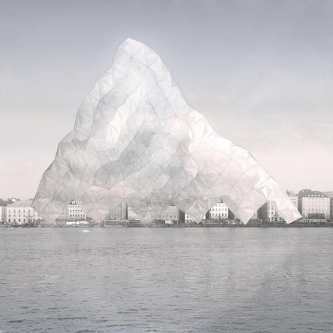 """Time Crystal"". Drawing: Tor Lindstrand (2019)"