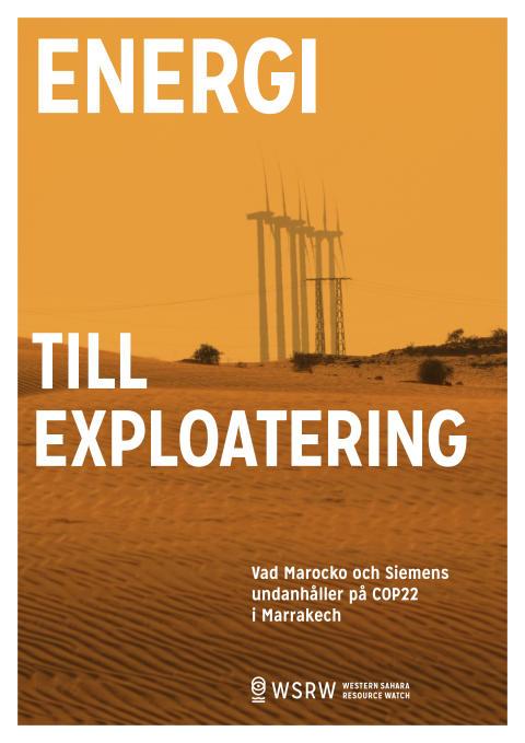 COP22: AP-fonder investerar i vindkraftsbygge i ockuperade Västsahara