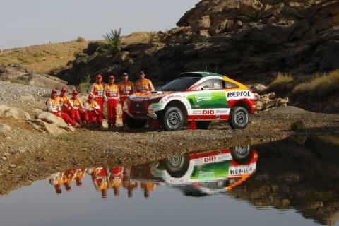 Ett ovanligt slut för Mitsubishi i årets Dakar Rally