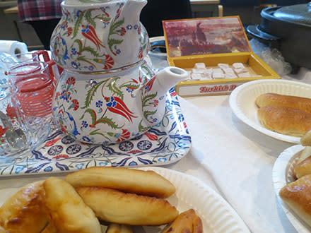 Te- och kaffesalong på Stockholms läns museum