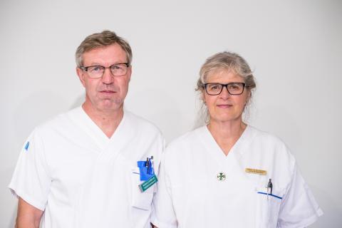 Anders Lindblom, smittskyddsläkare och Bodil Petersén, smittskyddssköterska