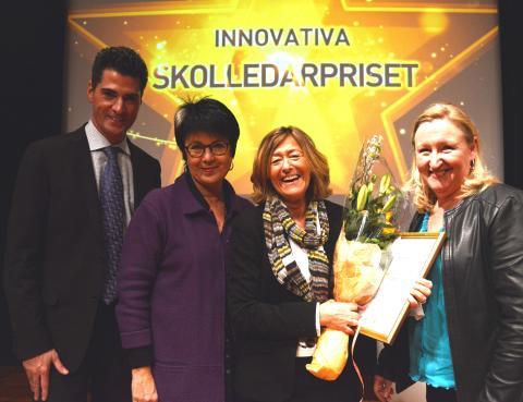 Här får Birgitta Trolin Innovativa skolledarpriset 2013