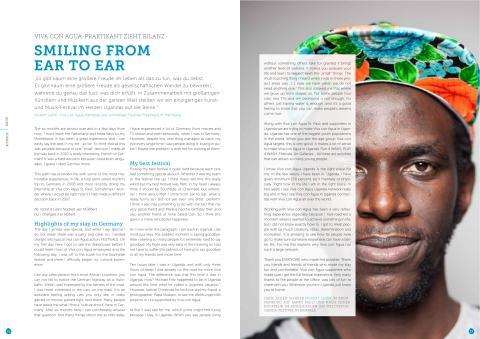 Nobert Latim, Viva con Agua Kampala: SMILING FROM EAR TO EAR