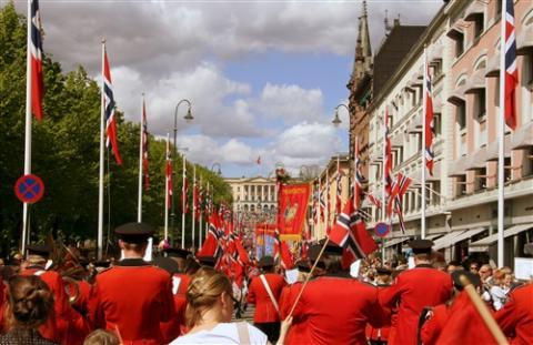 Fejring af Norges Grundlovsdag d. 17. maj i Oslo