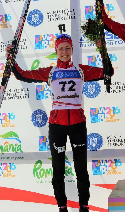 Emilie Kalkenberg, pallen, sprint ungdom kvinner, junior-VM 2016