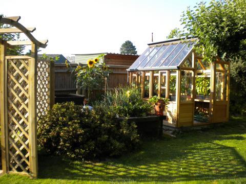 The Rosemoor - växthus i cederträ