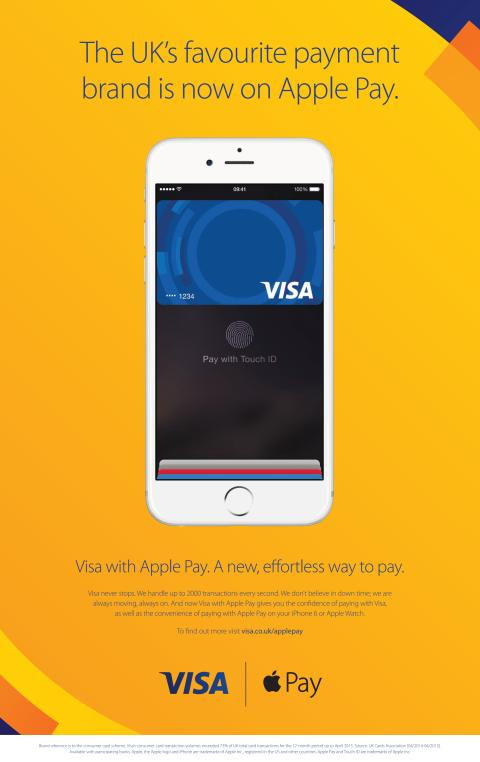 Visa je na Apple Pay připravena
