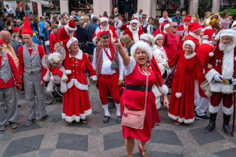 Julemor Tina Brinkbæk fører an i runddans om Storkespringvandet