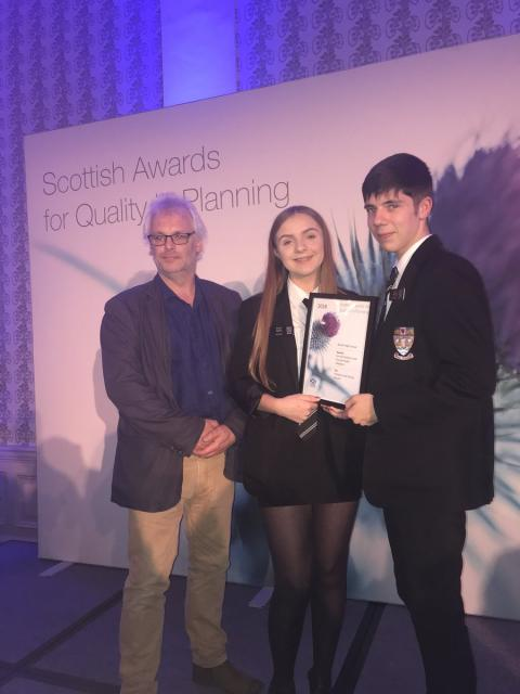 Buckie pupils celebrate national planning award win