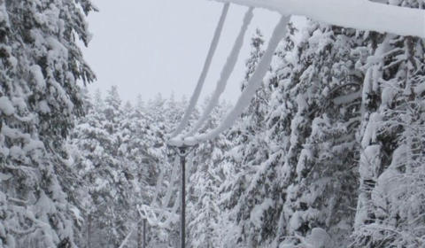 Tunga snö- och islaster i elnätet
