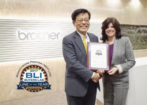 "Brothers nieuwste gamma zwart-wit laserprinters wint de BLI ""Line of the Year 2017"" Award"