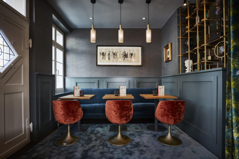 Seating at Spedition Hotel, Thun, Switzerland - hotel design by Stylt