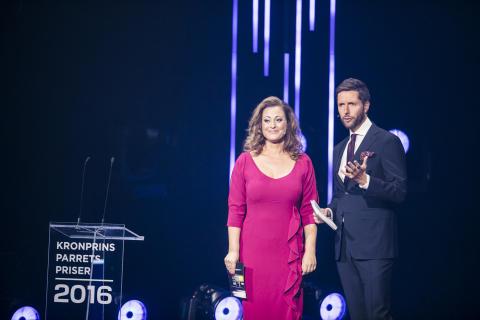 Stéphanie Surrugue og Kåre Quist er værter ved Kronprinsparrets Priser 2017