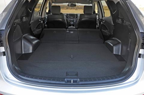 Nye Santa Fe fra Hyundai; bagasjerom