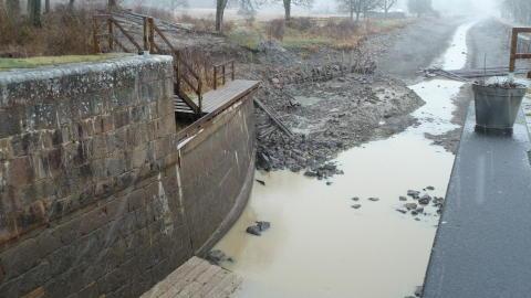 Svåra geotekniska förhållanden vid Göta kanal