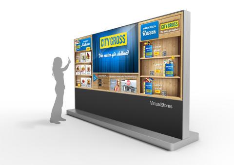 City Gross etablerar världsunika digitala butiker