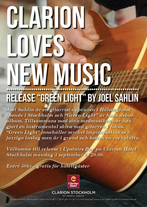 "Release ""Green Light"" av Joel Sahlin"