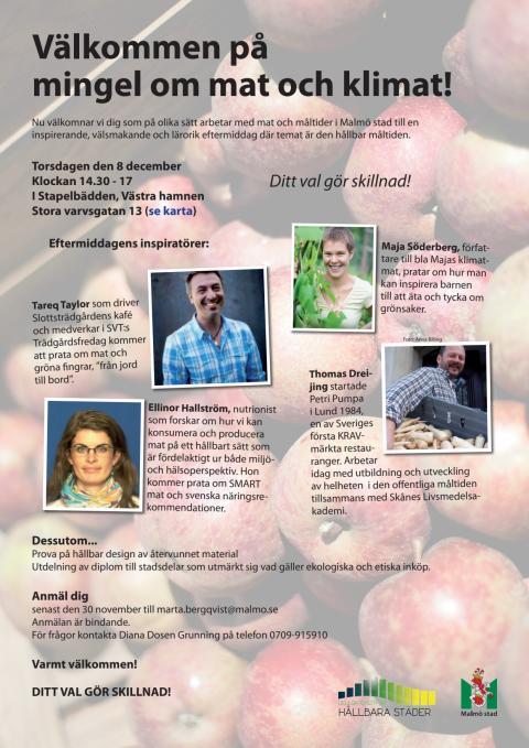 Inbjudan till inspirationsdag om den hållbara måltiden