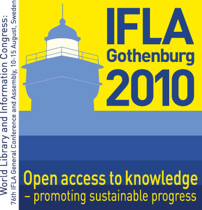 IFLA World Library and Information Congress 10-15 august Gothenburg