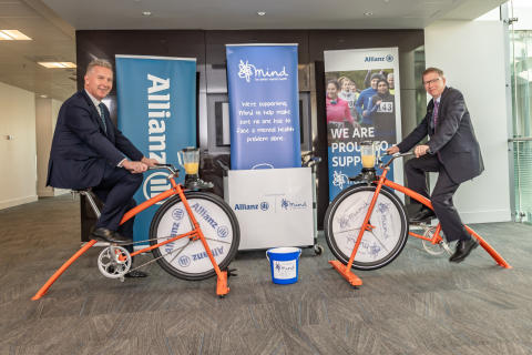 Jon Dye, Allianz and Paul Farmer, Mind Smoothie Bikes