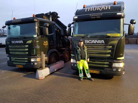 Månedens lastbilchauffør kører for Thurah