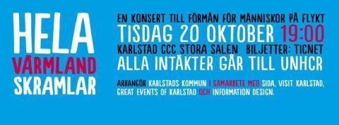 Hela Värmland skramlar - en konsert till förmån för människor på flykt
