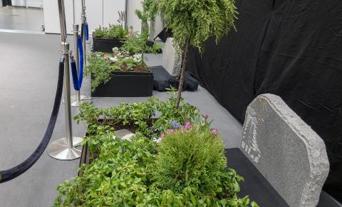 Del av utställningen Evighetens Trädgårdar