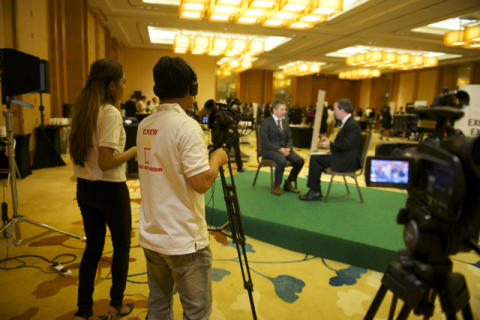 The HBM crew in action at SMF 2015 at the Marina Bay Sands