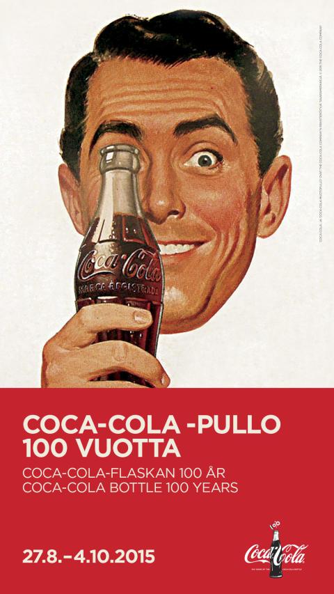 Coca-Cola-pullo poptaidetta Sinebrychoffin taidemuseossa